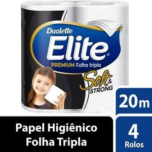 Papel Higiênico Elite Premium Folha Tripla 20m Pacote 4 Rolos
