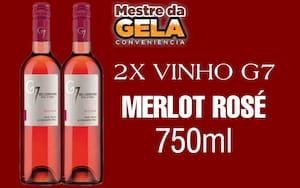2 garrafas de g7 Merlot rosé 750ml
