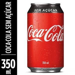 Refrigerante Coca-Cola sem Açúcar 350ml