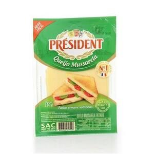Queijo Mussarela President Fatiado 150gr