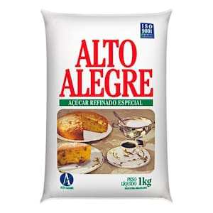 Açúcar Refinado Alto Alegre Pacote 1kg