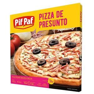 Pizza Congelada Pif Paf Presunto com Mussarela Embalagem 460g