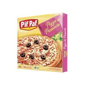 Pizza Pré Pronta Pif Paf Presunto Embalagem 460g