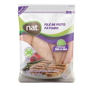 Filé de Peito Fatiado de Frango Nat Congelado Iqf Embalagem 1kg