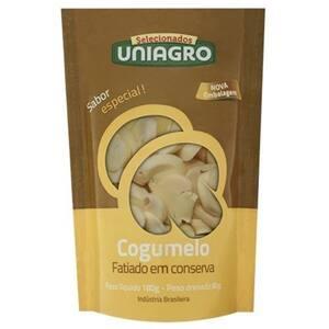 Cogumelo em Conserva Uniagro Fatiado Embalagem 80g
