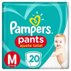 Fralda M Pampers Pants Ajuste Total Pacote 20un