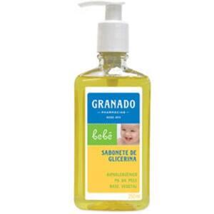 Sabonete Líquido Granado Bebê Glicerina Tradicional Embalagem 250ml