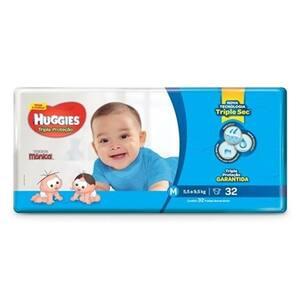 Fralda Huggies Tripla Proteção M Pacote 32un