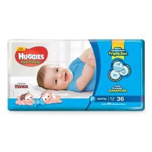 Fralda Huggies Tripla Proteção P Pacote 36un