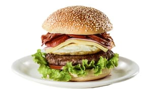 X tudo fechado de hambúrguer