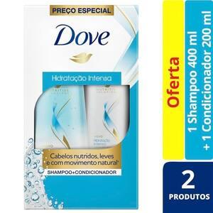 Kit Dove Hidratação Intensa Shampoo 400ml + Condicionador 200ml