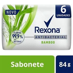 Sabonete Rexona Bamboo 84g Oferta 6un