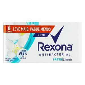 Sabonete Antibacterial Fresh Rexona com 6 Unidades Leve Mais Pague Menos