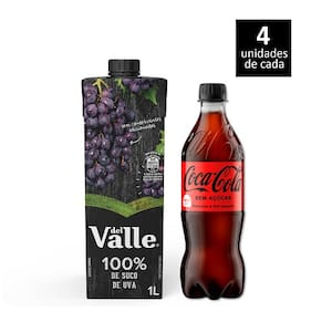 Coca-Cola Sem Açúcar + Del Valle Uva