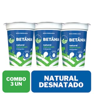 Combo Iogurte Desn Natural Copo 170g