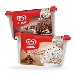 Combo Kibon Flocos e Chocolate