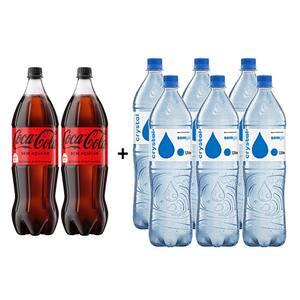 Coca-Cola Sem Açúcar 1,5l + Crystal