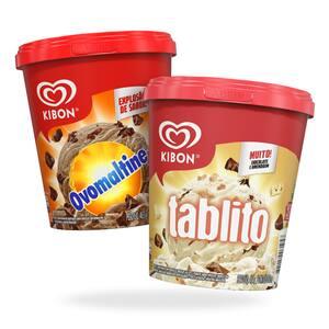 Combo Kibon Tablito e Ovomaltine