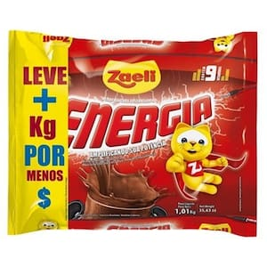 Achocolatado em Pó Zaeli Energia 1,01kg