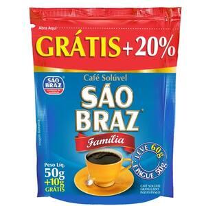 Café Solúvel São Braz Família Oferta 60g