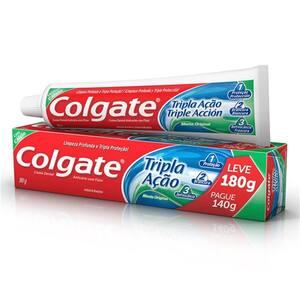 Creme Dental Colgate Tripla Ação Menta Original Oferta 180g