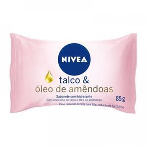 Sabonete Hidratante Nivea Talco e Óleo de Amêndoas 85g