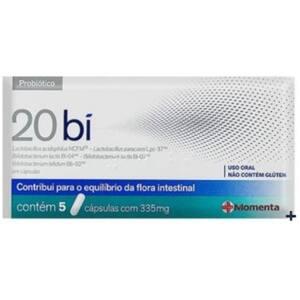 20 Bi Contém 5 Cápsulas com 335mg Probiótico 5 Cápsulas