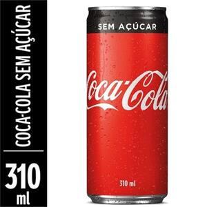 Refrigerante Coca-Cola sem Açúcar 310ml
