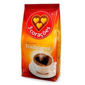 Café 3 Corações Tradicional Pacote 500g