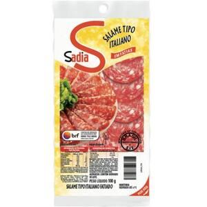 Salame Italiano Fatiado Sadia Resfriado 100g