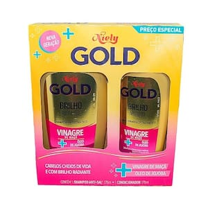 Kit Niely Gold Brilho Absoluto Shampoo + Condicionador