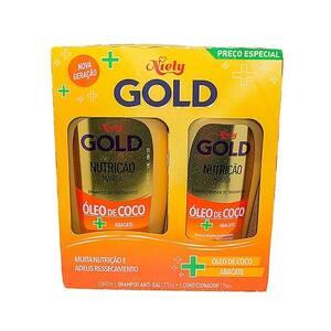 Kit Shampoo + Condicionador Niely Gold Nutrição Magica