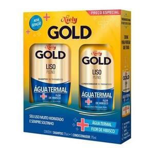 Kit Niely Gold Liso Pleno Shampoo Shampoo + Condicionador