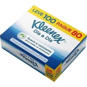 Lenço de Papel Kleenex Classic Embalagem 100un