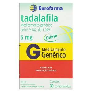 Tadalafila Eurofarma com 30 Comprimidos 5mg