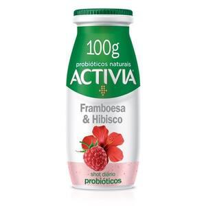 Leite Fermentado Activia Shot Probióticos Framboesa e Hibisco 100g