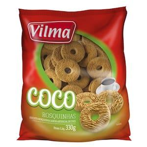 Biscoito Doce Vilma Rosquinha de Coco 330g