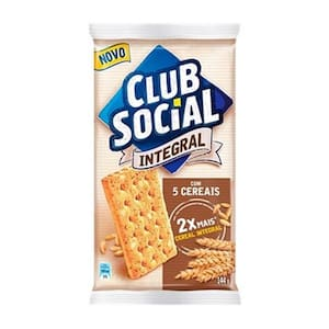 Biscoito Integral Club Social 5 Cereais 144G