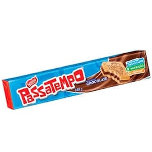 Biscoito Recheado Passatempo Chocolate 130g