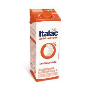 Leite Longa Vida Italac Zero Lactose Semi Desnatado Caixa 1l