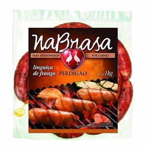 Linguiça Perdigão Nabrasa Frango Pacote 1kg