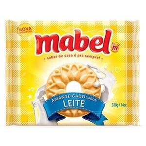 Biscoito Amanteigado Mabel Leite 330g