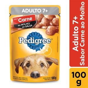 Ração Úmida para Cães Adultos 7+ Pedigree Carne 100g