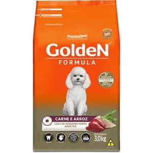 Ração Golden Fórmula Carne e Arroz para Cães Adultos de Raças Pequenas 3kg