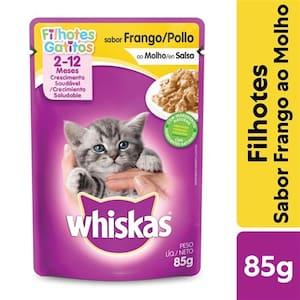 Ração Úmida para Gatos Filhotes Whiskas Frango Ao Molho 85g