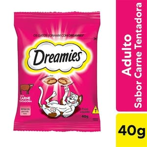 Petisco para Gatos Adultos Dreamies Carne 40g