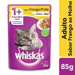 Ração Úmida para Gatos Adultos Whiskas Frango 85g