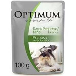 Ração Úmida para Cães Optimum Frango Raças Pequenas 100g