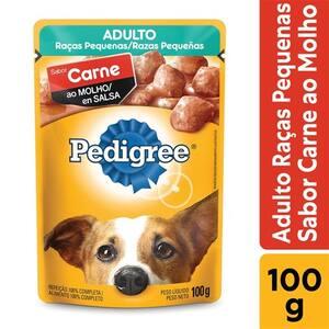 Ração para Cães Adultos Pedigree Raças Pequenas Carne 100g