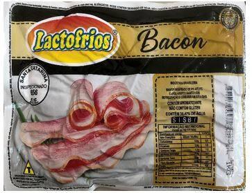 Bacon Fatiado  Lactofrios   Pacote com 1.0 Kg